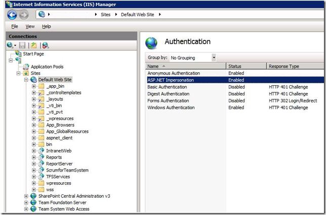 IIS7 ASP.NET Impersonation