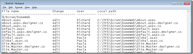 Exporting TF Status to Excel - Accentient