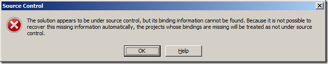 Removing TFS bindings from solutions and projects - Accentient